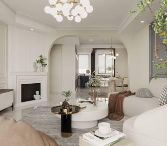 100平米三室两厅法式风格客厅装修图片大全