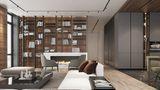 富裕型120平米三混搭风格书房效果图