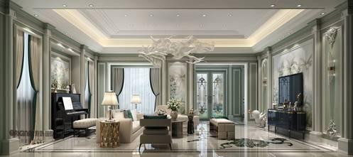 豪华型140平米别墅欧式风格客厅欣赏图