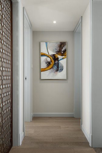 10-15万130平米三室两厅美式风格玄关设计图