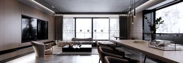 140平米三室两厅工业风风格客厅图