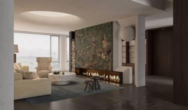 140平米三室两厅英伦风格客厅图