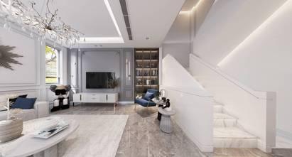 140平米四室四厅法式风格客厅图片