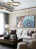 10-15万120平米三室两厅混搭风格客厅图