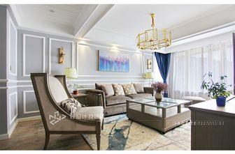 140平米三室三厅美式风格客厅图片