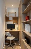 5-10万90平米三室一厅现代简约风格书房装修图片大全