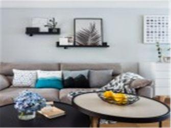 10-15万90平米三室两厅北欧风格客厅效果图