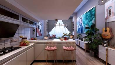 60平米一居室混搭风格厨房图
