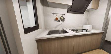 50平米公寓轻奢风格厨房装修图片大全