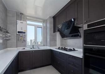140平米三室一厅美式风格厨房欣赏图
