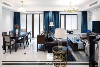 富裕型140平米复式美式风格客厅图