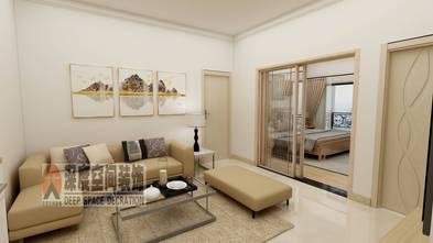 3-5万80平米三室两厅现代简约风格客厅效果图