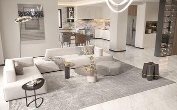 豪华型140平米四室四厅轻奢风格客厅效果图
