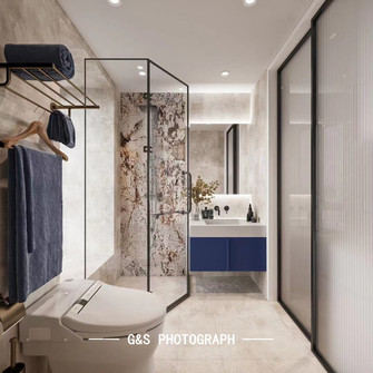 140平米四室一厅法式风格卫生间图片