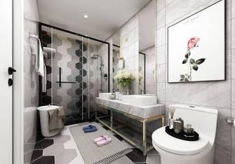 50平米公寓英伦风格卫生间装修效果图