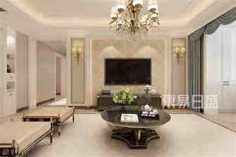 20万以上140平米四新古典风格客厅图
