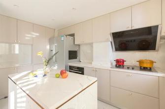 富裕型140平米四室两厅法式风格厨房欣赏图