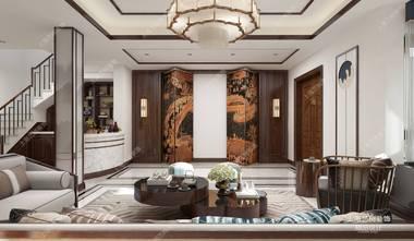 120平米别墅中式风格客厅欣赏图