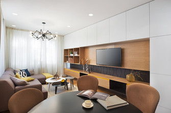经济型90平米三新古典风格客厅欣赏图