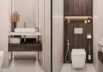 110平米公寓田园风格卫生间装修效果图