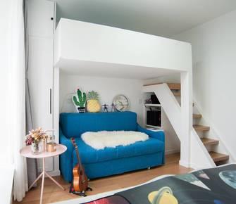5-10万40平米小户型北欧风格阁楼图片