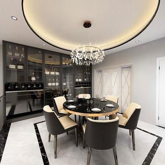 豪华型140平米别墅中式风格餐厅图片