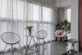 富裕型90平米三室两厅现代简约风格阳光房装修效果图