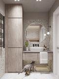 10-15万60平米公寓欧式风格卫生间装修案例