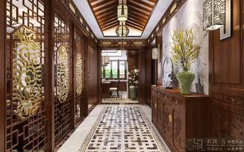 豪华型140平米别墅中式风格走廊装修效果图