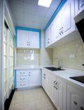 富裕型100平米三室两厅地中海风格厨房设计图
