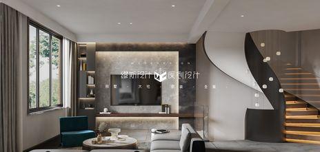 140平米别墅英伦风格客厅图