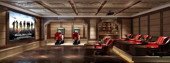 140平米四室四厅美式风格其他区域效果图