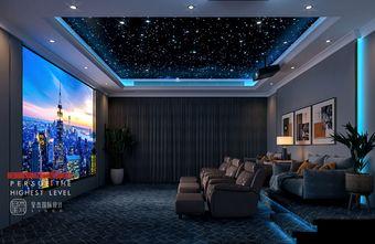 豪华型140平米别墅现代简约风格影音室装修图片大全