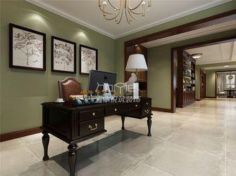 140平米四室一厅美式风格书房图片