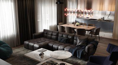 富裕型140平米三美式风格客厅设计图