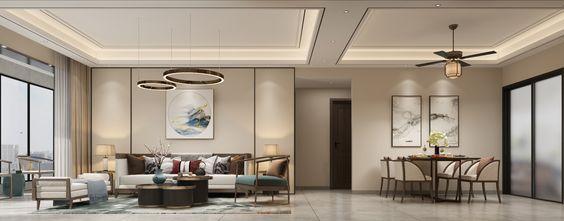 富裕型130平米四室两厅中式风格客厅图片大全