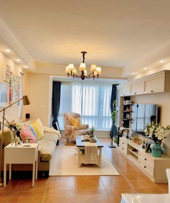 经济型80平米三室一厅田园风格客厅欣赏图