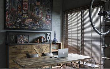 富裕型120平米三室一厅工业风风格书房装修效果图