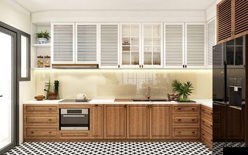 富裕型120平米三室两厅东南亚风格厨房图