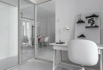豪华型100平米三室两厅北欧风格书房图