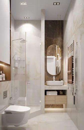 130平米三室一厅现代简约风格卫生间图片大全