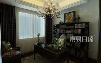 20万以上140平米三室两厅美式风格书房装修图片大全