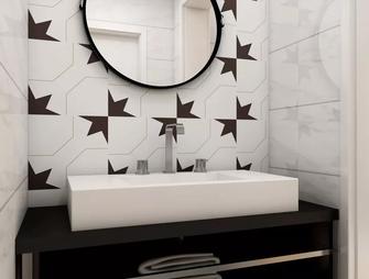 80平米一室一厅混搭风格卫生间效果图