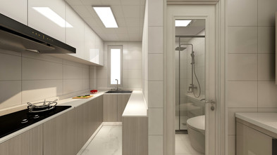 50平米一居室北欧风格厨房设计图