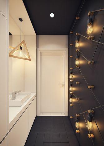 豪华型50平米一室一厅现代简约风格卫生间装修图片大全
