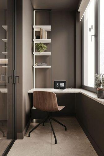 富裕型60平米一居室现代简约风格书房装修图片大全