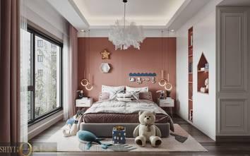 豪华型140平米别墅轻奢风格卧室图片大全