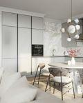 10-15万80平米三室一厅现代简约风格餐厅欣赏图