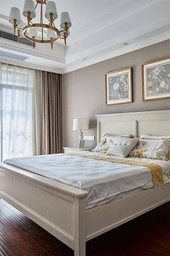 120平米三室两厅美式风格卧室图片大全