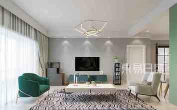 20万以上120平米三现代简约风格客厅图片大全